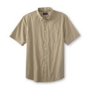 Basic Editions Men's Easy Care Short-Sleeve Dress